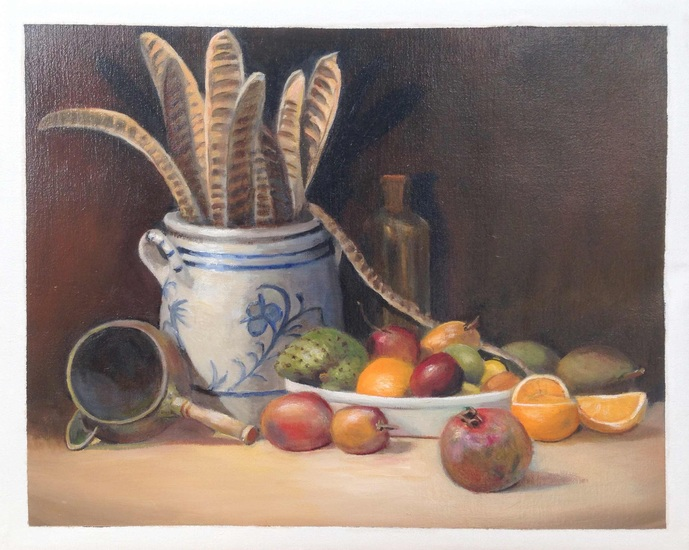 Still life with Curacao fruit