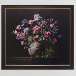 Giclée of Flower still life with passion flower and phlox