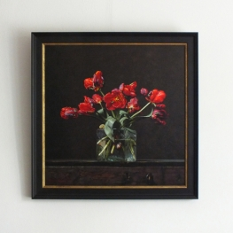 Giclée of Still life with parrot tulips
