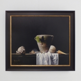 Giclée of pot and shells