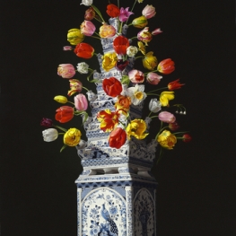 Flower still life with Tulip vase