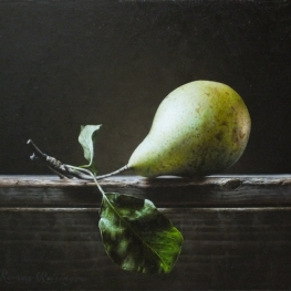 Still life with conference pear