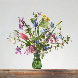 Still life with wild flowers-April