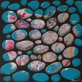 Pebbles in Blue