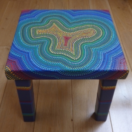 side table with dots