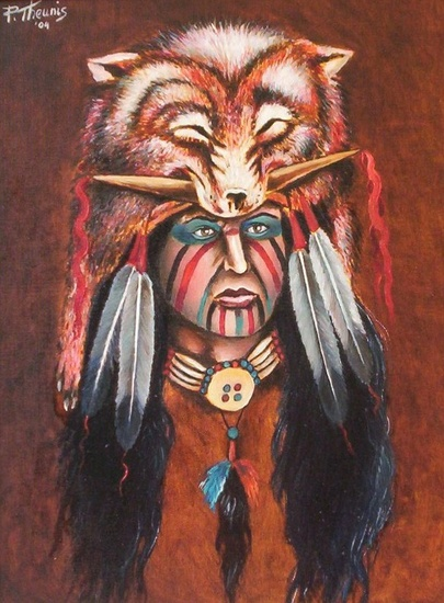 indian with Wolfheaddress