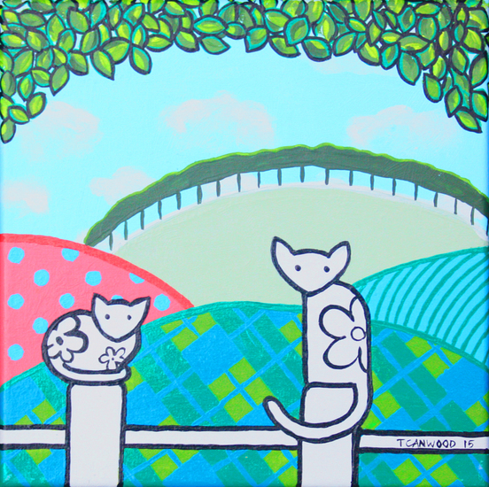 Cats Waiting (sold)