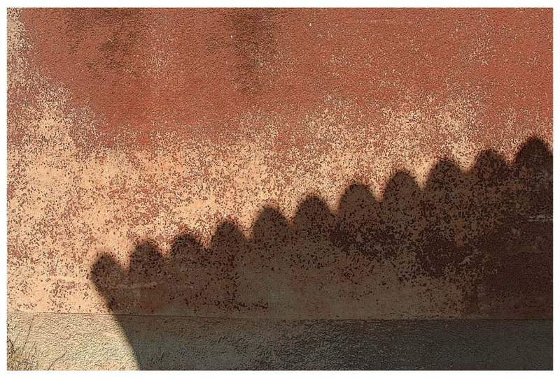 Shadow on the wall.