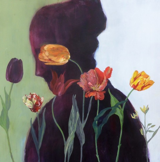 LADY WITH TULIPS