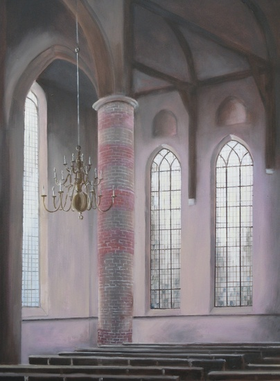 Kerk interieur te Workum