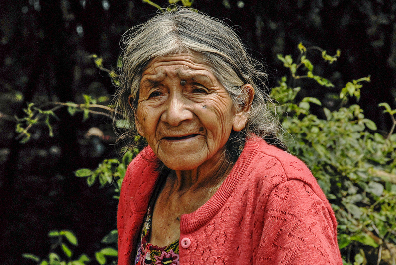 Old rural woman