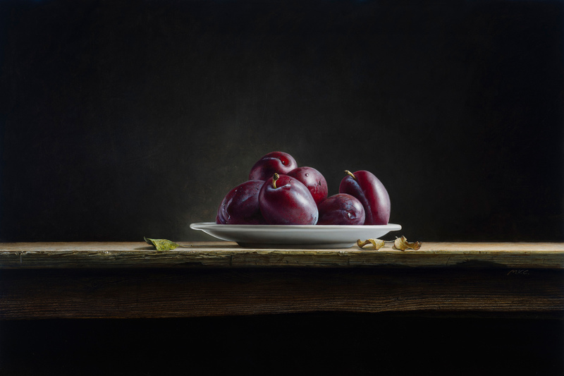 Plate with Plums