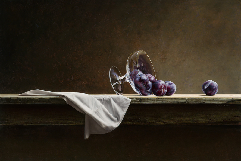 Plums and Glass