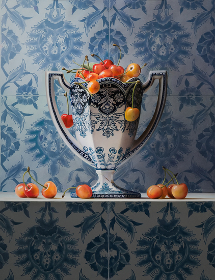 Vase with Cherries