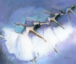 With thanks to the 'Koninklijk Ballet van Vlaanderen', who did not allow me to make paintings of their dancers.