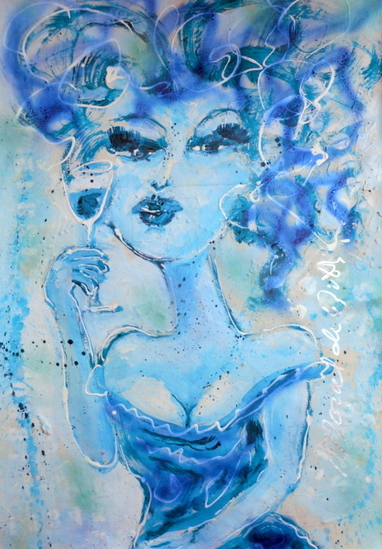 Mademoiselle in blue