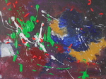 abstract expressionistisch zonder titel