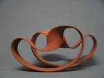 A series of ceramic sculptures inspired on the famous mathematical band of Moebius.