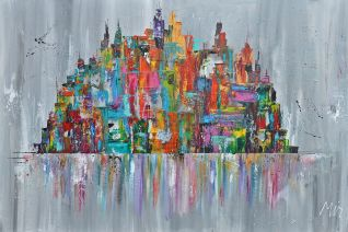 COLORFUL CITYSCAPE /SKYLINE