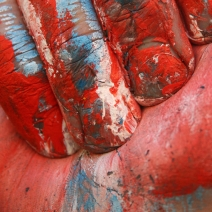 Wet painting - red