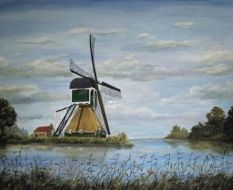 Molen in landschap