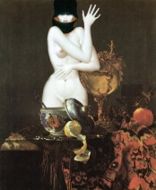 Still life with woman