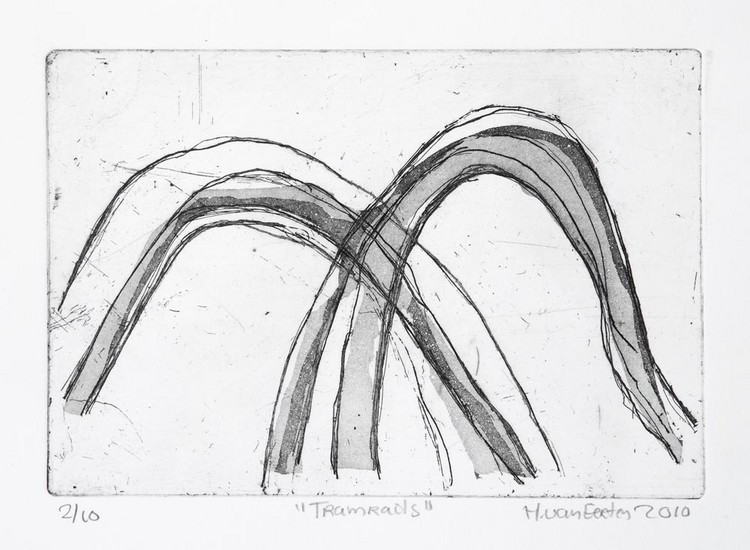 'Tramrails I.' - ets-aquatint
