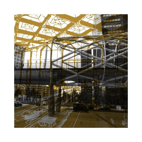 'Hague Fishnets 1.'-digital art-print of The Hague: modern architecture station