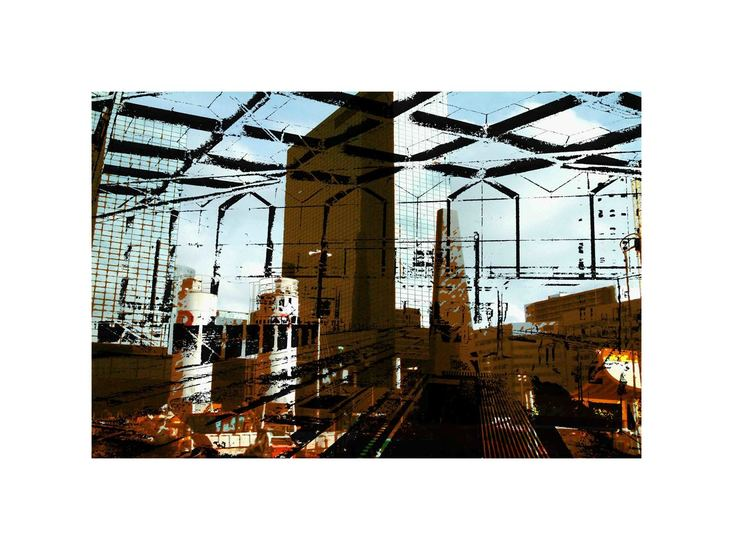 'Look-through at Rotterdam 1.' - digital art-print of modern Dutch architecture for sale