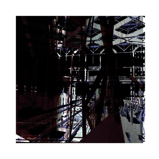 'Look-through at The Hague Central 3.' - digital art-print of modern Dutch architecture in The Netherlands, for sale