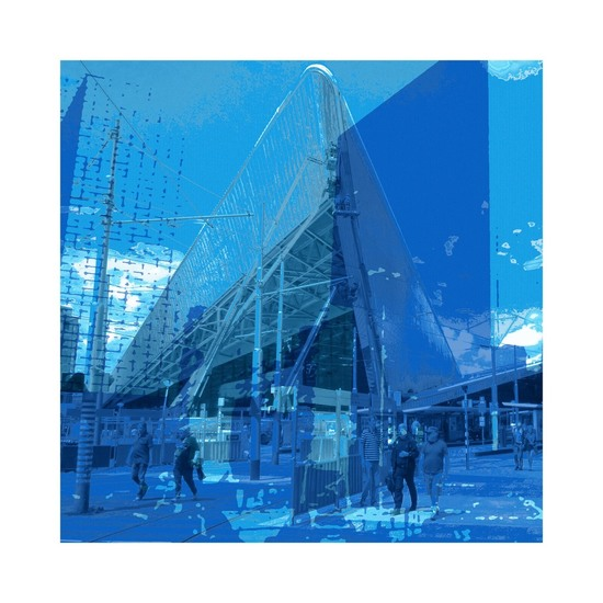 'Rotterdam Blue 1'. - digitale art print