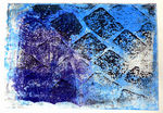 Monoprint art of paving stones, pavement, vowels and cobblestones in the streets of the old Dutch city - Amsterdam and Maastricht, Netherlands. I got fascinated by the complex structures and reflections in the street pavements. For me it was a kind of graphic art itself. I transformed my many photos into graphic art by the technique of monoprint.
