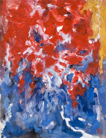 'Fiery sea' gouache nr G.647