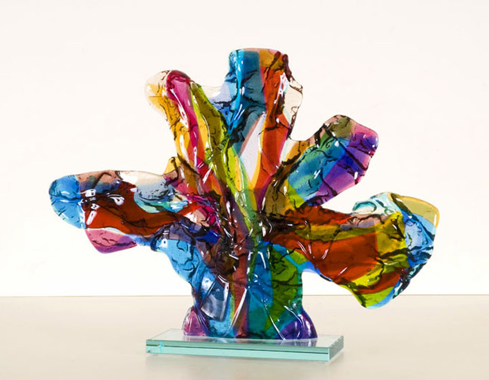 'Bunch of flowers' - glass fusing object
