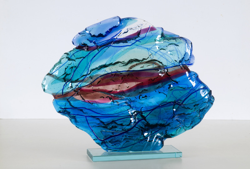 'Deap-sea' - glass fusing art
