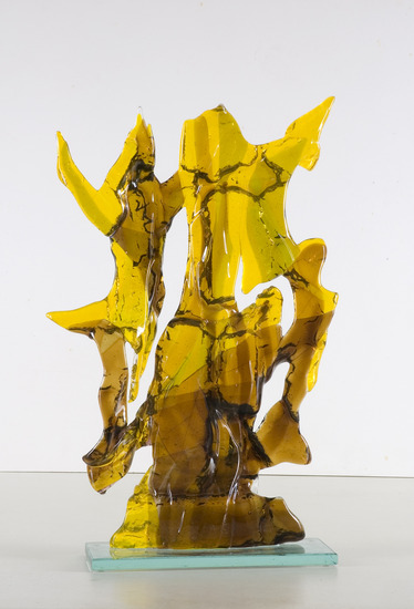 'Golden autumn' - glass fusing sculpture