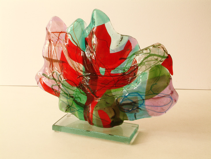 'Landscape 1' - glass fusing sculpture