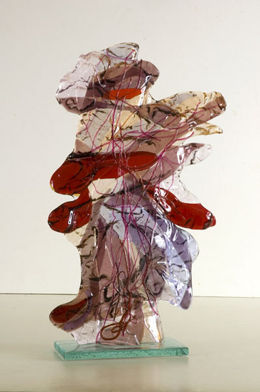 'Warrior' - glass art sculpture