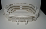 A paper-architecture design of the soccer stadium Camp Nou, located in Barcelona, for OY communications (http://www.oy.nl/).