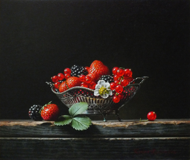 Still life with red fruit