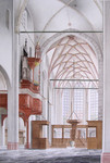 Interiors of different churches in the Netherlands