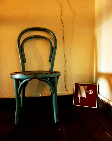 the little blue chair