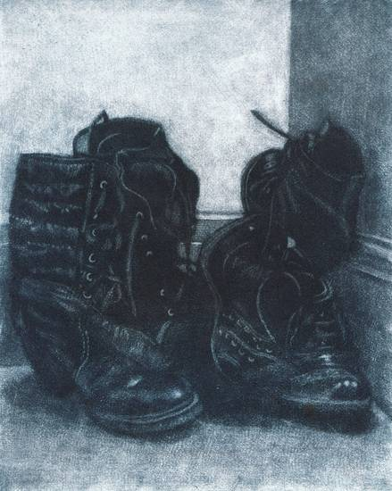 Still life with boots