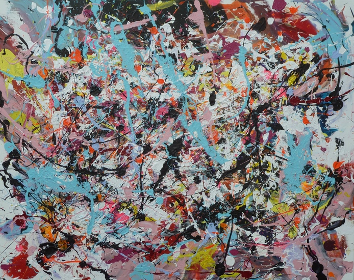 SOLD action painting 2 (no 109)