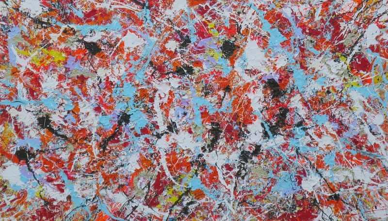 SOLD action painting 11 ( 130 )