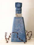 Sculpture made of clay, iron and mixed media