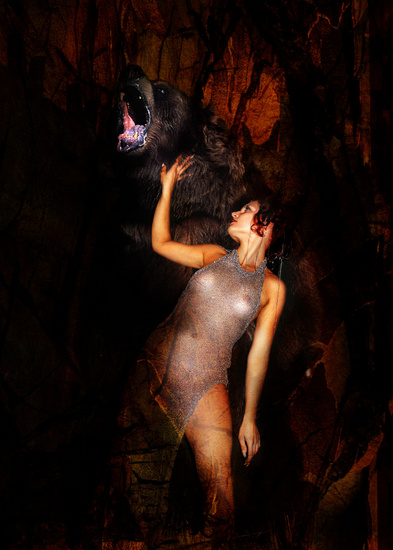 Kristine and the bear