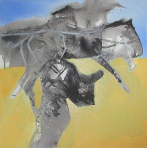 Bikkel - Ride - mixed media on canvas - 40x40cm - 15 03 2020
