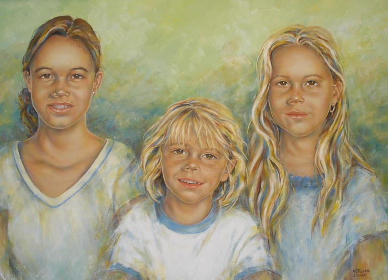Portrait in oil paint