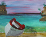 Living on an island inspires you to paint vieuws of the sea of course. Here we have beautifull scenery with sun, sea and all kind of subjects to paint in front of that. Here you find some of them